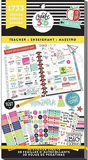 me & my BIG ideas  PPSV-14 Create 365 The Happy Planner Sticker Value Pack Planner, Big Teacher