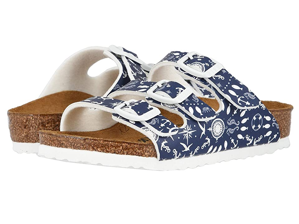 Birkenstock Kids Florida (Toddler/Little Kid/Big Kid) (Nautical Print/Blue) Girls Shoes