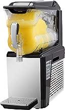 VBENLEM 110V Slushy Machine 10L Single Bowl Slush Frozen Drink Machine 500W Frozen Drink Maker Ice Slushies for Supermarkets Cafes Restaurants Snack Bars Commercial Use