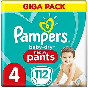 Pampers 81714239 Baby-Dry Pants windelhose wei/ß Gr/ö/ße  4