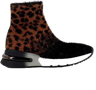 ASH Luxury Fashion Womens KING03LEO Brown Hi Top Sneakers | Fall Winter 19