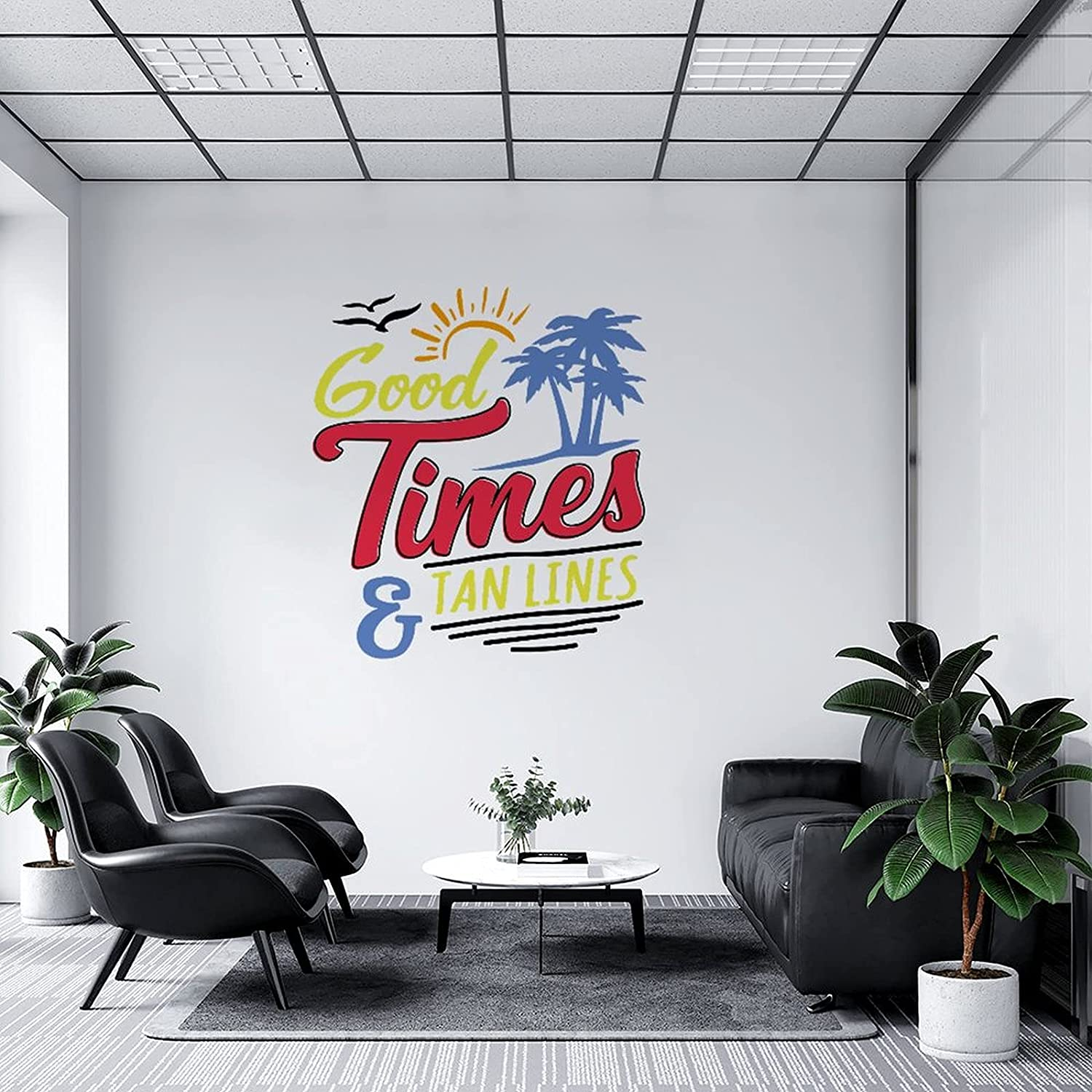 Wall Decal Good Times and Tan Murals Summer DIY trend rank Selling Lines Art