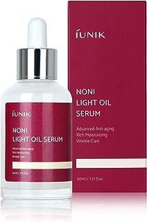 IUNIK Noni 42% Oil Natural Serum for Hyper-pigmentation Anti-Aging, Wrinkle, Improves Skin Elasticity with Blueberry, Olive, Jojoba Oil – Hydrating Ampoule Serum, 1.71 Fl Oz – Korean Skin Care