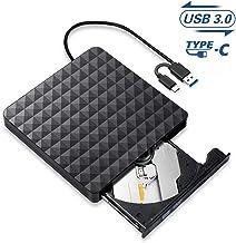 Lecteur CD/DVD Externe,USB 3.0 Type C Portable CD/DVD/ROM Optiques Graveur,Transmission..