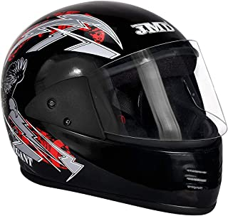 JMD Helmets ELEGANT Full Face (BLACK-RED) DECOR M