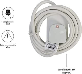 Eurosonic 1 Way UK 3 Pin Main Extension Lead 5m Cord Cable Electronics