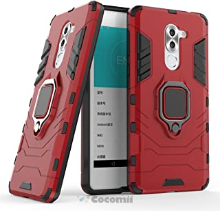 Cocomii Black Panther Armor Huawei Honor 6X/Mate 9 Lite/GR5 2017 Case New [Heavy Duty] Tactical Metal Ring Grip Kickstand Shockproof [Works with Magnetic Car Mount] Cover for Huawei Honor 6X (B.Red)