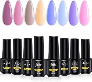 Abgel Gel Nail Polish Sets 8 Pcs manicure kit gift box nail art colours of nude purple blue morandi