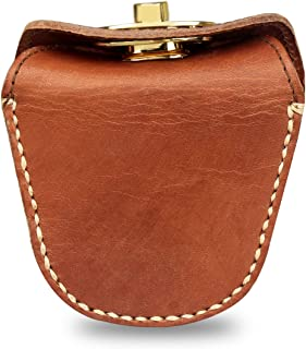 Kosibate Ammo Pouch, Genuine Leather Ammo Bag for .22 22lr .38 .45 Hunting Vintage Belt Gun Ammo Carrier Pouch