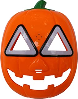 Halloween Pumpkin Mask LED Light Cosplay Mask Orange
