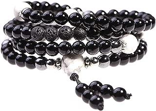 Onyx Bracelet - Prayer Beads - Anxiety Bracelet - Wrap Bracelet - Mala Beads - Beaded Necklace - Tibetan Bracelet - Japa Mala Necklace for Meditation by TamLyn Concepts