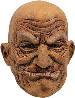 OneV FT ハロウィン パーティーマスク 仮装コスプレ 怖い老人ラバーマスク 驚愕 コスプレ小物 仮装マスク 仮装 変装 お面 かぶりもの 仮装イベン アイテム お祭り 宴会 学園祭 文化祭