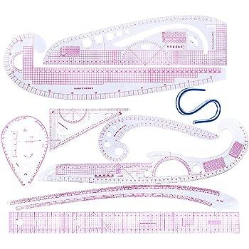 Set 7 Vary Formular Kurvenlineal Modellbau Franz/ösisch Schiff Curve Multi N/äharbeiten Ruler