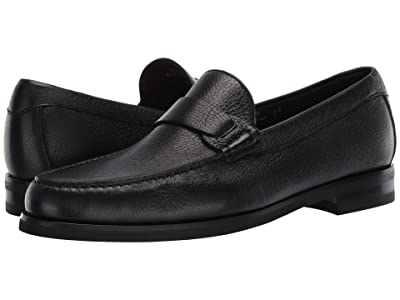 Canali Deer Leather Loafer (Black) Men