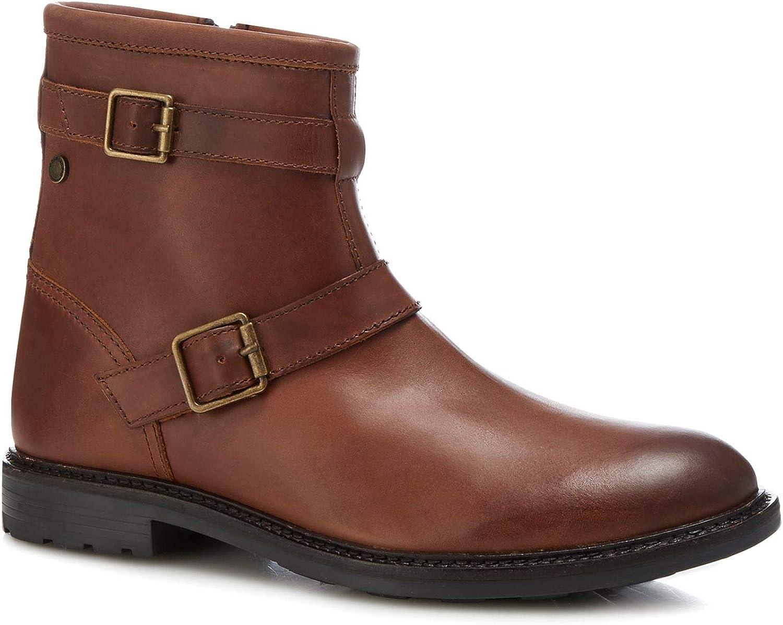 Base London Men Tan Leather 'Ortiz' Boots