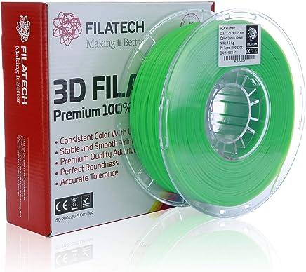 Filatech PLA Filament, Lum. Green, 1.75mm, 1KG