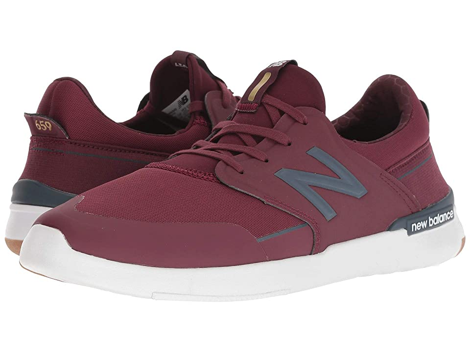 New Balance Numeric AM659 (Burgundy/Gum) Men's Skate Shoes