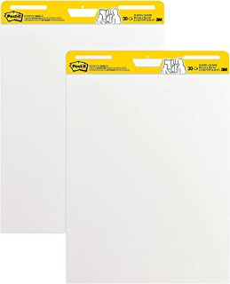 Post-it Super Sticky Easel Pad, 25 in x 30 in, White, 30 Sheets/Pad, 2 Pad/Pack, Great..