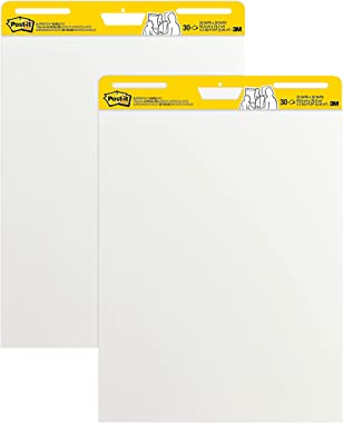 Post-it Super Sticky Easel Pad, 25 in x 30 in, White, 30 Sheets/Pad, 2 Pad/Pack, Great for Virtual Teachers and Students (559