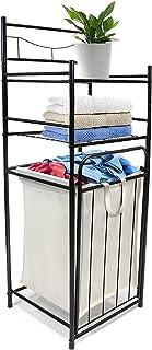 Sorbus Bathroom Tower Hamper - Features Tilt Laundry Hamper and 2-Tier Storage Shelves - Great for Bathroom, Laundry Room,...