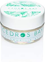 Cedros Bay Coconut Lip Balm 0.35 Ounces - Natural, Vegan, Caribbean LipCare, Made with 100% Organic Coconut Oil & Cruelty ...