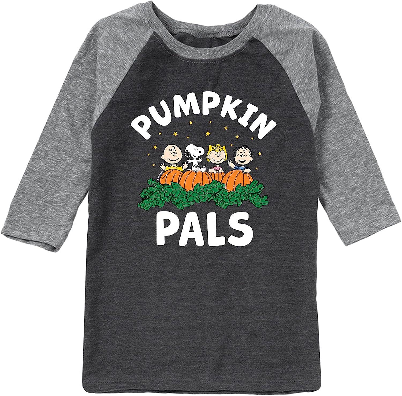 Peanuts - Pumpkin Pals - Toddler and Youth Raglan Graphic T-Shirt
