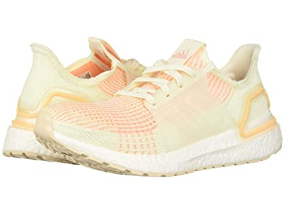 adidas Running Ultraboost 19 (Off-White/Off-White/Glow Orange) Women