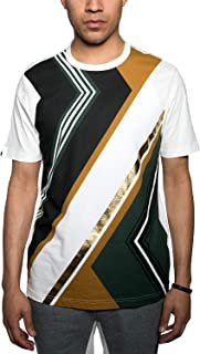 Sean John Men's Abstract Colorblocked Gold Foil Graphic T-Shirt. Abstract