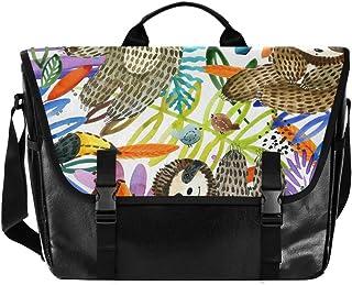 Bolsa de lona para hombre y mujer, diseño retro de animales de acuarela, ideal para iPad, Kindle, Samsung