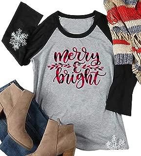 merry and bright raglan shirt