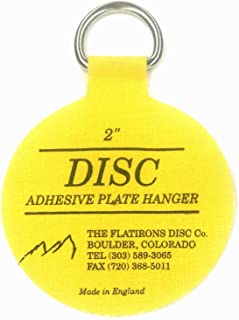 Flatirons Disc Adhesive Plate Hangers, 2 Inch, 8 Pack