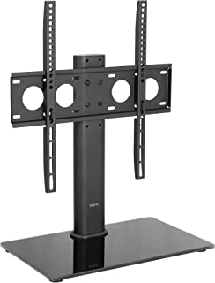 VIVO Black Universal TV Stand for 32 to 50 inch LCD LED Flat Screens | Tabletop VESA..