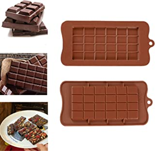 MKNZOME 24 Holes Silicone Mould Baking Mold Bakeware Pan for Making Cake Candy Chocolate Cupcake Pudding Jelly Handmade So...
