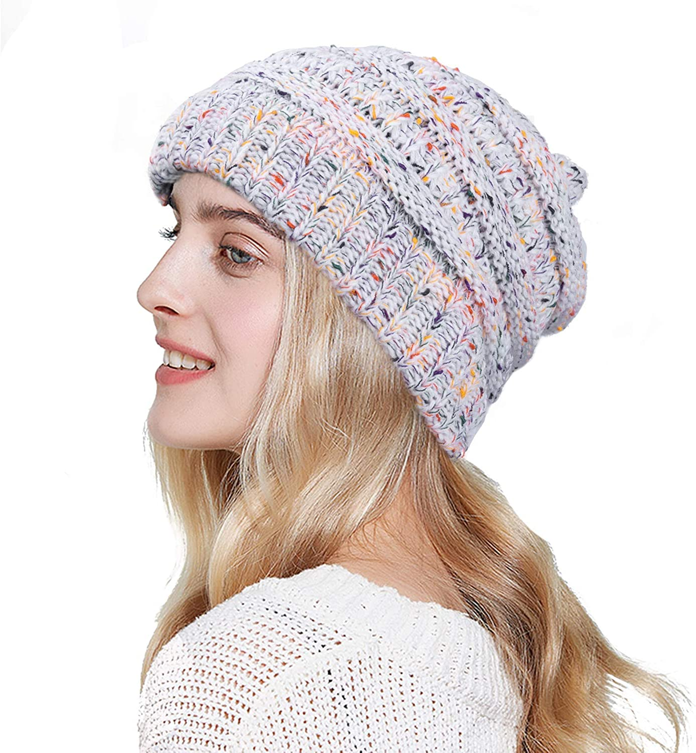 RJVW Knit Beanie Hat for Women wholesale Winter Slouchy Max 76% OFF Soft Warm Thick