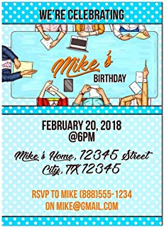 Office Birthday Party Invitations