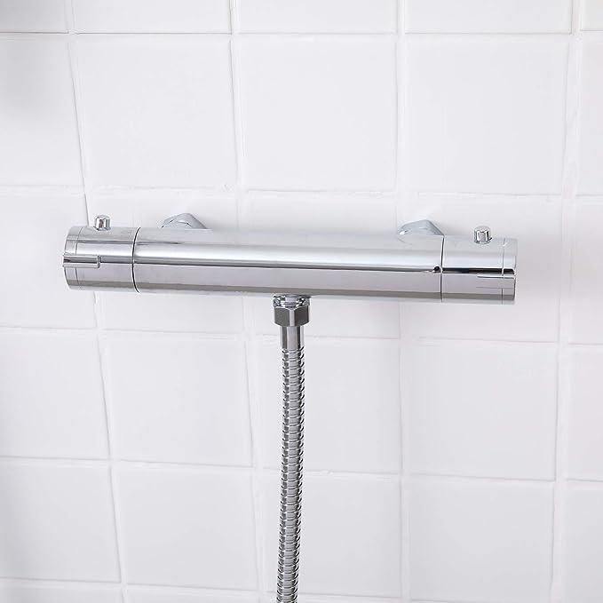 Dor/é Schw/änlin/® SC01G Colonne de douche avec thermostat et douche /à effet pluie Dor/é