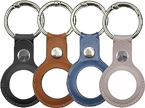 2 stks / 4 stks Portable Protector Case Cover met Sleutelhanger voor AirTags, anti-kras Lederen Beschermende Skin Cover Co...