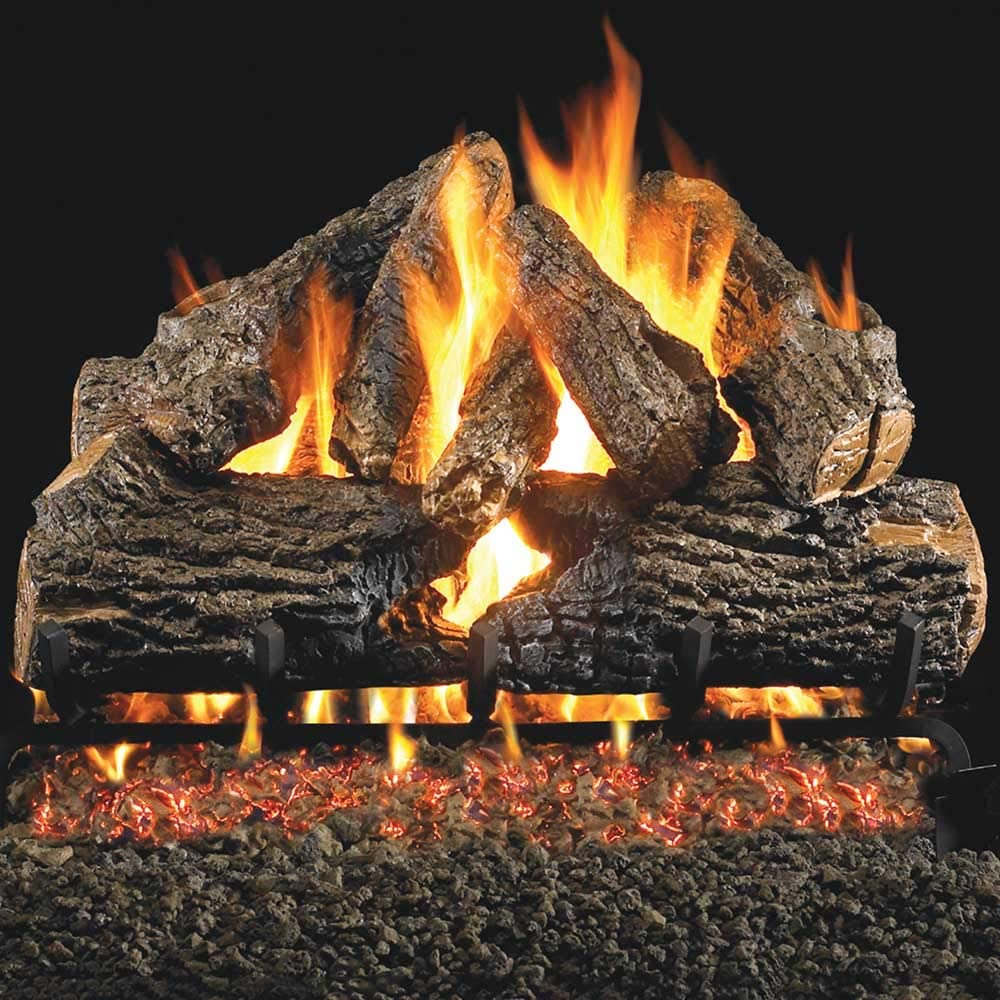 Peterson Real Fyre 24-inch Charred Oak Cheap Max 42% OFF bargain Set With Vented Natur Log