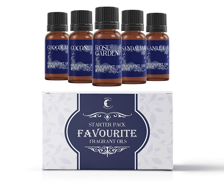 機知に富んだキャメル建てるMystic Moments | Fragrant Oil Starter Pack - Favourite Oils - 5 x 10ml