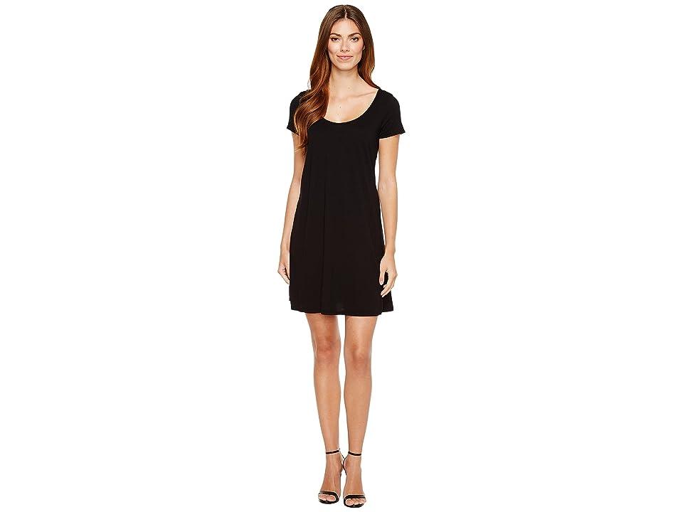 Michael Stars Scoop Neck Mini Dress (Black) Women