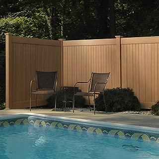 6 ft. H x 8 ft. W Cedar Grove Chestnut Brown Vinyl Privacy Fence Panel