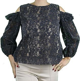 Generico Sara GHIAIE-Camicia Elegante a Maniche Palloncino-Donna-Made in Italy- Interamente Fatta a Mano