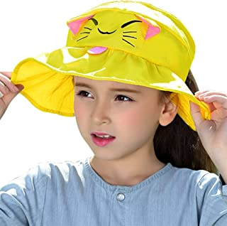 e055d54822c65b Bienvenu Kids Girls Wide Brim Visor Sun Hat - UV Protection Foldable Beach  Cap