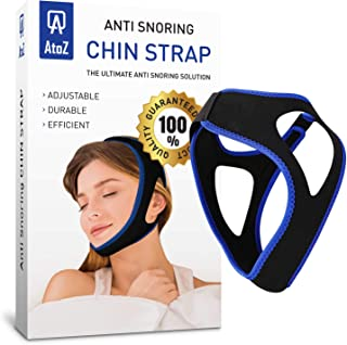 AtoZ Anti snoring Devices - Anti snoring Chin Strap - Snore Stopper Strap - Stop snoring Chin Strap for snoring - Snoring Chin Strap - New Anti Snoring device for Men Women jaw Support