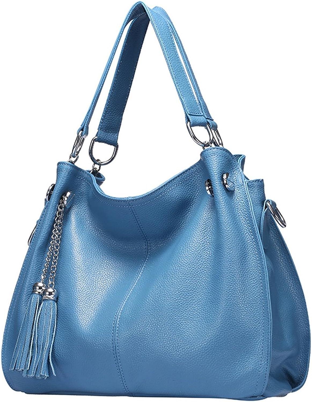 LUOEM Frauen Leder Umhängetasche Umhängetasche Umhängetasche große Umhängetasche (hellblau) B07CRQ4VBY  Qualifizierte Herstellung 4d4776