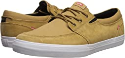 Tan Shaved Suede/White Canvas