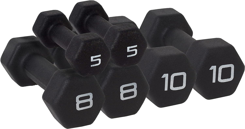 WF Athletic Supply Black Neoprene Sh Hex 大規模セール 新商品 Set Dumbbell Non-Slip