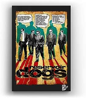 Reservoir Dogs, Cult Movie by Quentin Tarantino - Pop-Art Original Framed Fine Art Painting, Image on Canvas, Artwork, Movie Poster