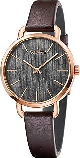Calvin Klein Women's Analogue Quartz Watch with Leather Strap K7B236G3