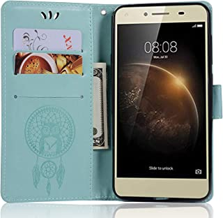 Huawei Honor Play 5 Leather Case, Huawei Honor 5 Play Wallet Case, PU Leather Embossed Floral Flip Case with Credit Card Holder for 5.0'' Huawei Honor Play 5, Huawei Honor 5 Play